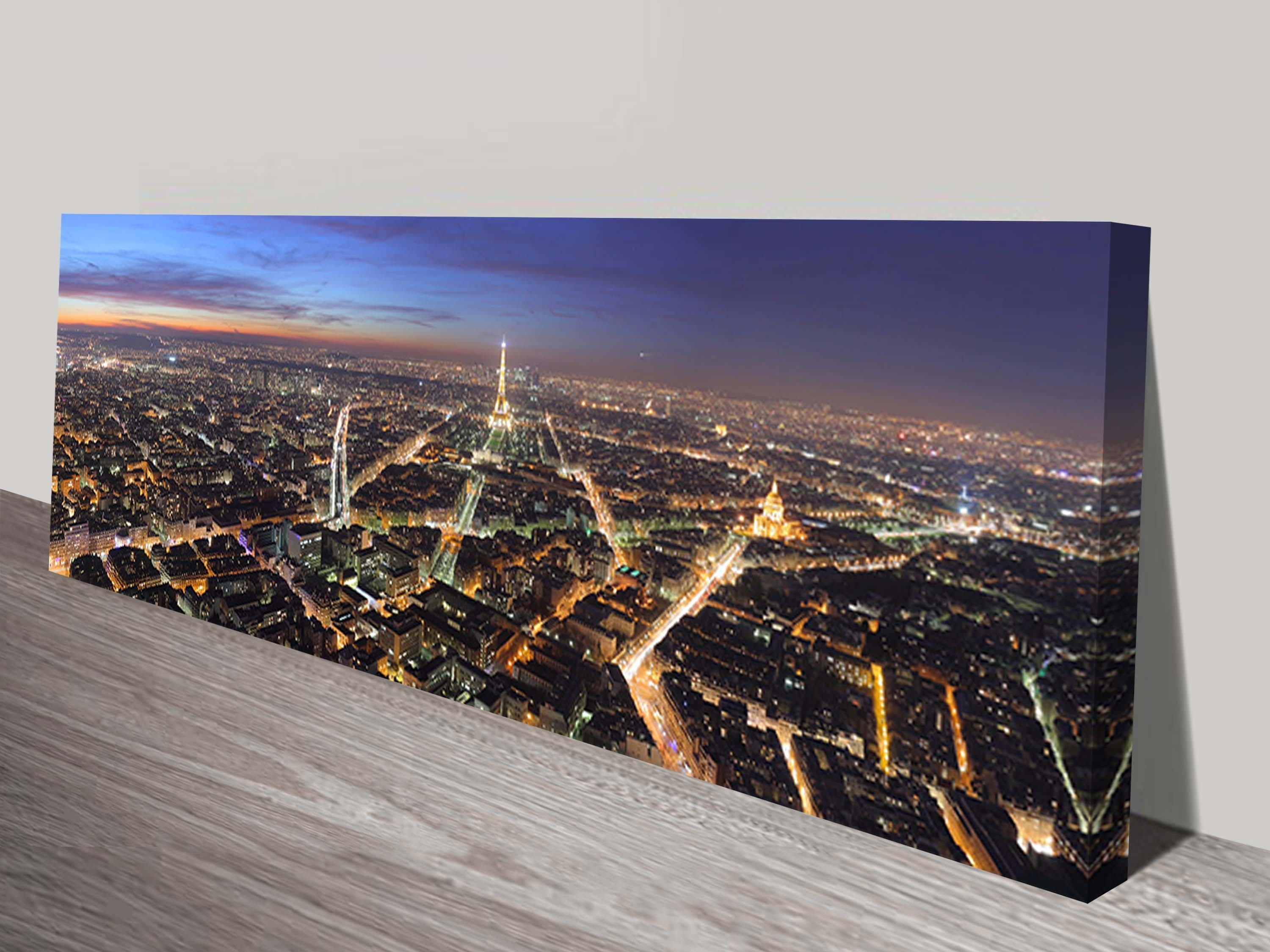 Parisnight Panoramic Canvas Wall Art In 2017 Cheap Canvas Wall Art (View 14 of 15)