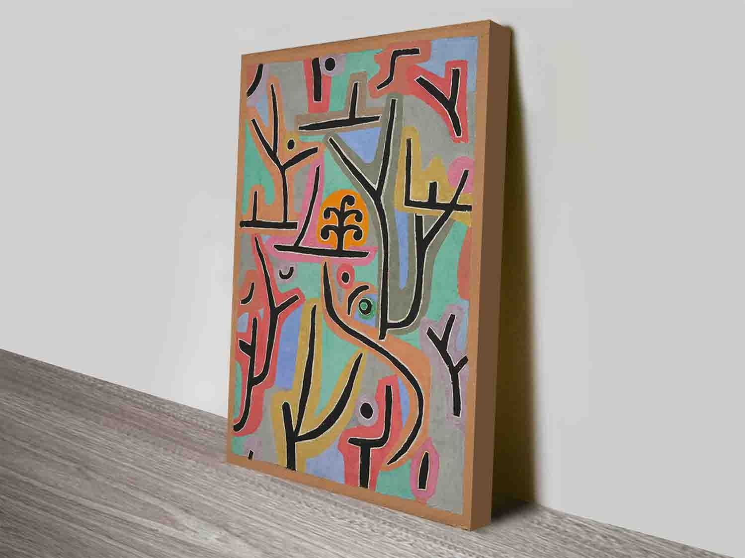 Park Bei Lupaul Klee Modern Artist Discount Wall Art Canvas Prints Pertaining To Most Popular Discount Wall Art (View 18 of 20)