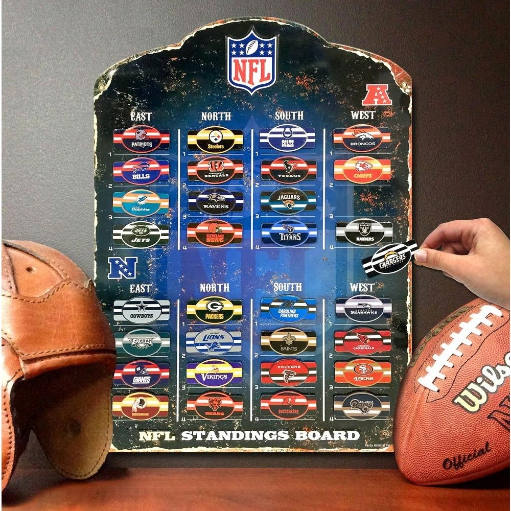 Party Animal 18.5 In. H X 13.5 In. D Nfl Magnetic Standings Board With 2018 Nfl Wall Art (Gallery 5 of 15)
