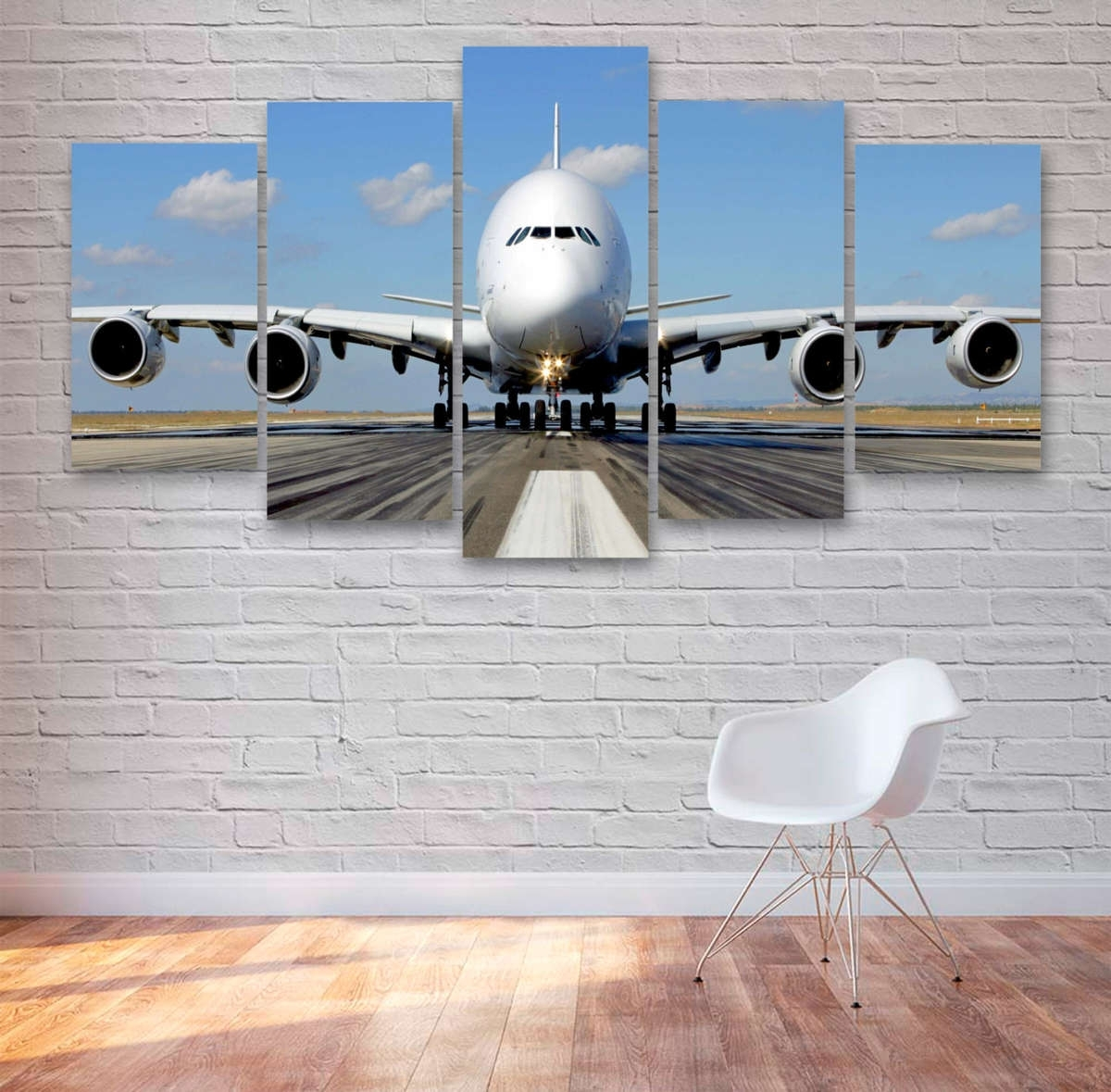 Passenger Airplane Multi Panel Canvas Wall Art – Mighty Paintings For Best And Newest Aviation Wall Art (View 17 of 20)