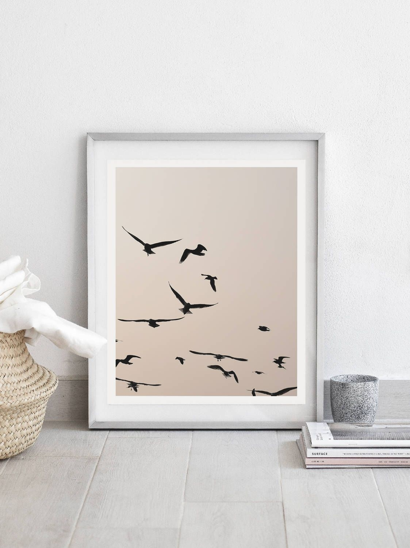 Pastel Wall Art,birds Print,pastel Print,birds Wall Art,large Wall Inside 2018 Home Decor Wall Art (Gallery 20 of 20)