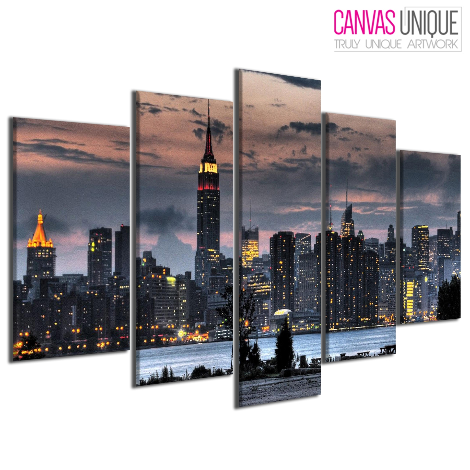 Pc148 New York Cityscape Scenic Multi Frame Canvas Wall Art Print | Ebay For Current New York Canvas Wall Art (View 10 of 15)