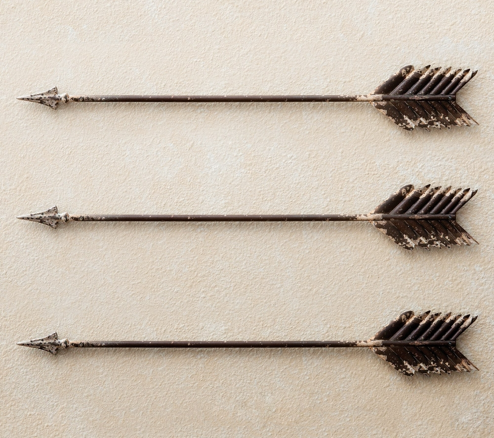 Peaceful Design Rustic Tal Wall Iron Wood Wrought Art Fresh Arrow Intended For Most Popular Arrow Wall Art (View 3 of 20)
