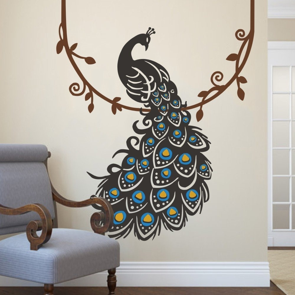 Peacock Wall Art Superb Peacock Wall Decor – Wall Decoration Ideas Throughout 2017 Peacock Wall Art (View 9 of 15)
