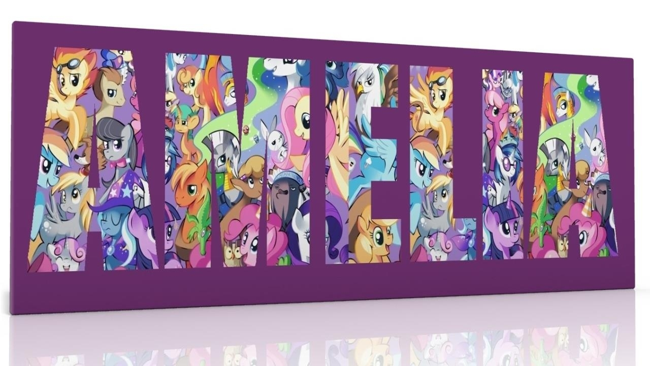 Personalised Canvas Wall Art My Little Pony Choose From 2 Designs Regarding Most Current My Little Pony Wall Art (View 20 of 20)