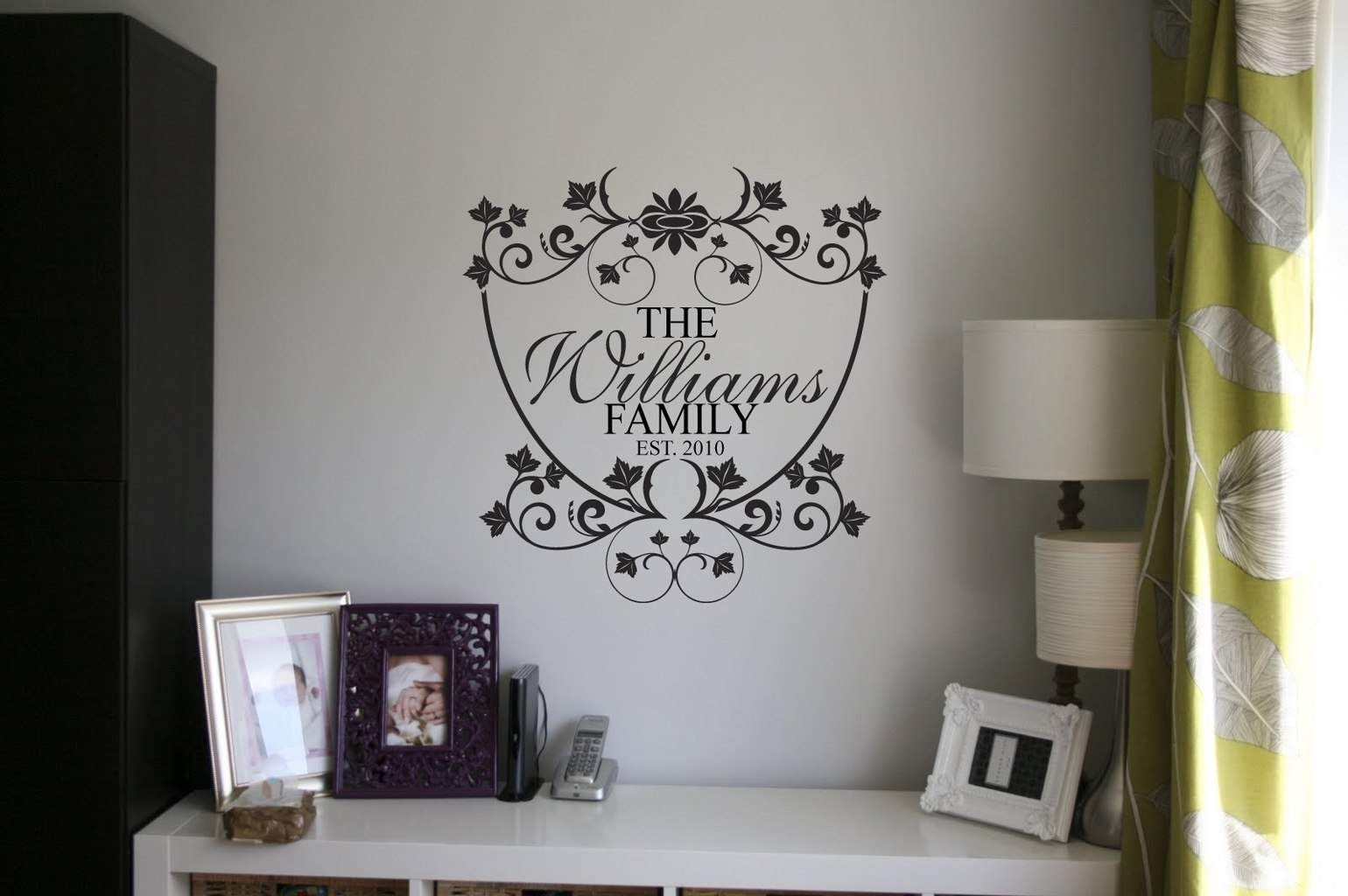 Personalised Family Name Wall Art Decal In Most Recently Released Name Wall Art (View 15 of 20)