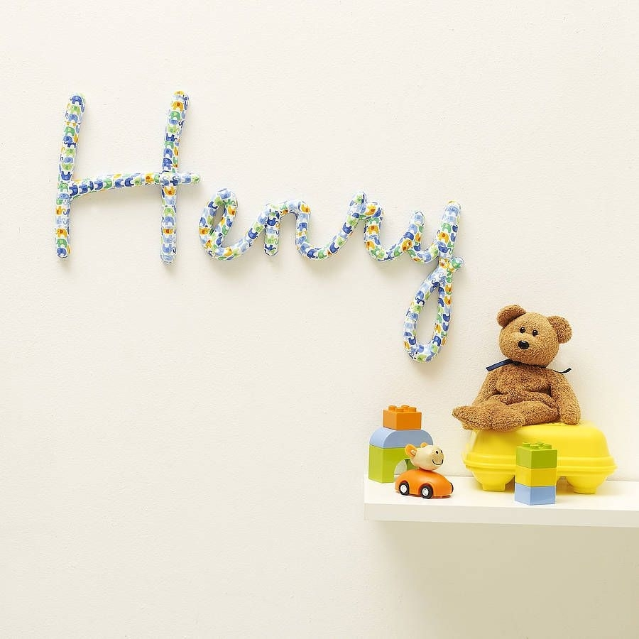 Personalised Nursery Name Wall Art, Something Really Fancy (View 18 of 20)
