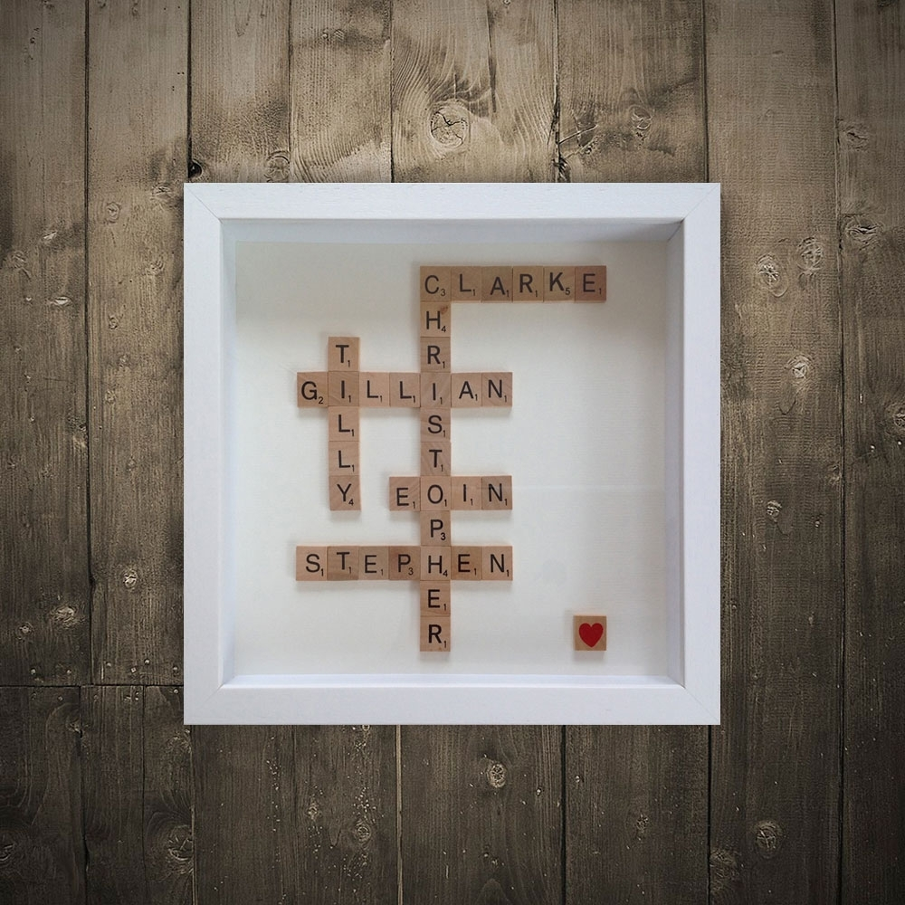 Personalised Scrabble Art | Irish Wall Artwordbird.ie pertaining to Most Recently Released Scrabble Wall Art