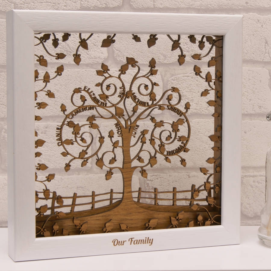 Personalised Wooden 3d Layered Family Tree Wall Arturban Twist Regarding Current Family Tree Wall Art (View 8 of 15)