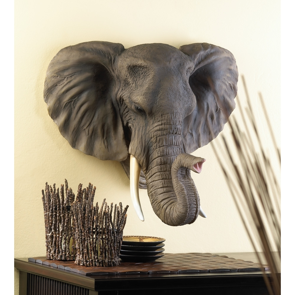 Personalized House Plaques, Bathroom Wall Art Decor Noble Elephant In Current Elephant Wall Art (View 11 of 15)