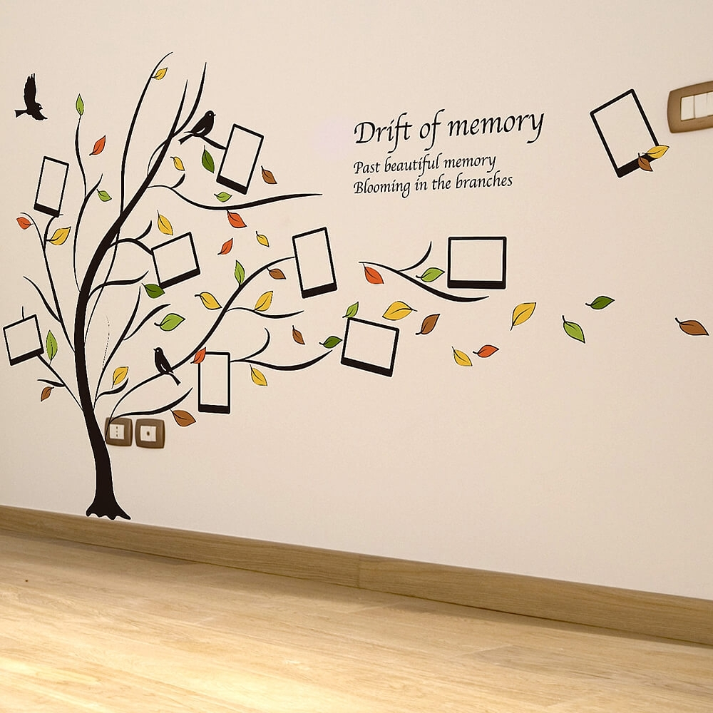 Photo Frame Family Tree Popular Family Tree Wall Decals – Home With Regard To Most Popular Family Tree Wall Art (View 13 of 15)