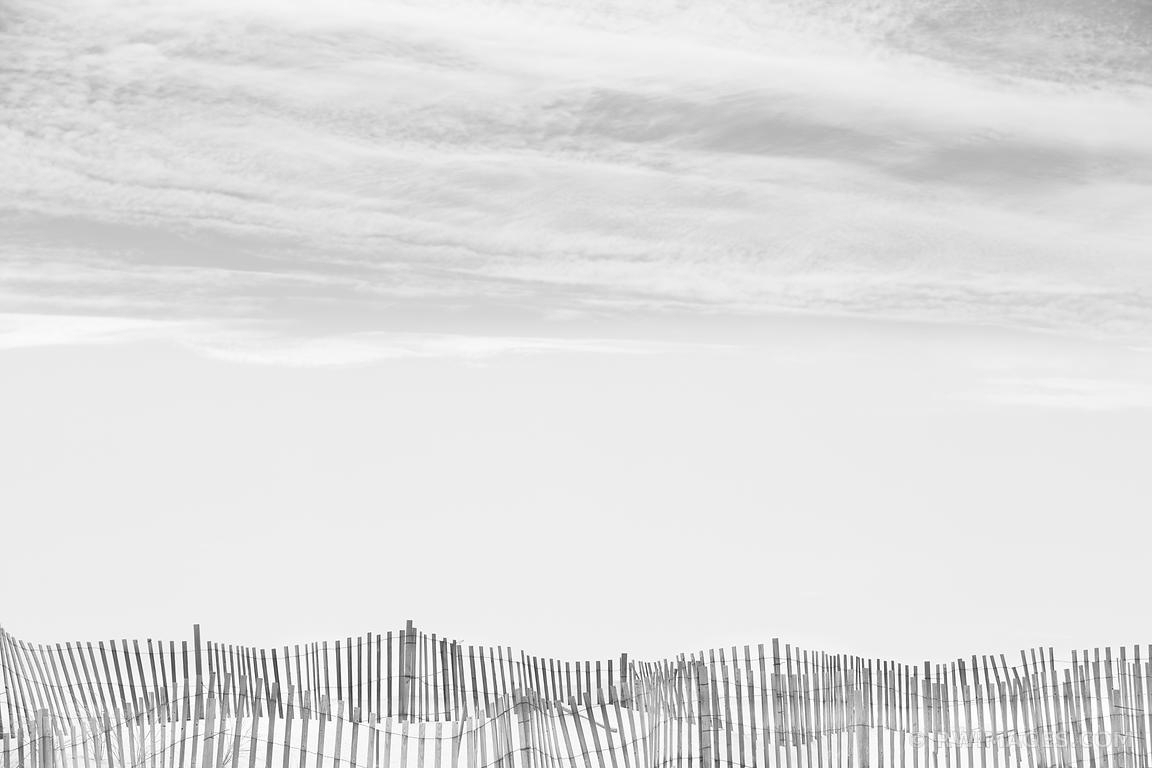 Photo Print Of Southampton Long Island Beach Fence Black And White within Current Long Island Wall Art