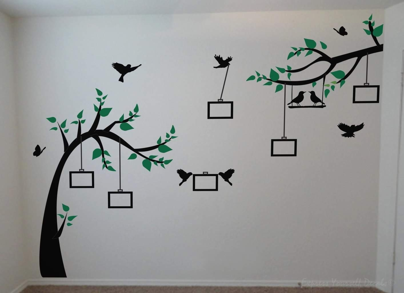 Photo Tree Wall Decal | Wall Art Decal Sticker With Recent Wall Tree Art (View 2 of 20)