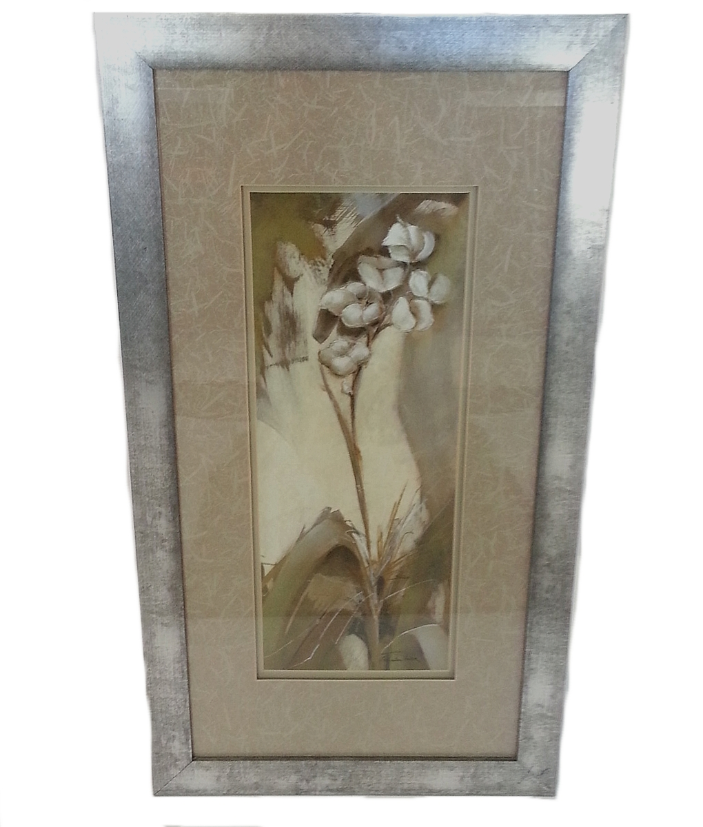 Picture Frame Wall Art Medium Flowers In A Silver Frame (Used With 2018 Silver Wall Art (View 12 of 20)