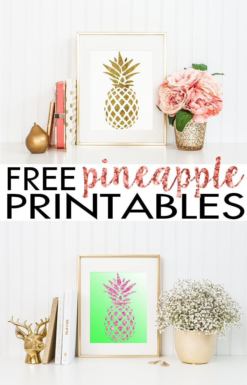 Pineapple Wall Art | Free Printable – Hairspray And Highheels Inside Recent Free Printable Wall Art (View 17 of 20)