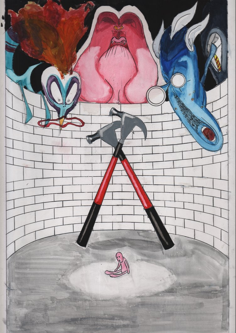 Pink Floyd The Wall – The Trialiam16bits On Deviantart Within Most Popular Pink Floyd The Wall Art (View 2 of 20)