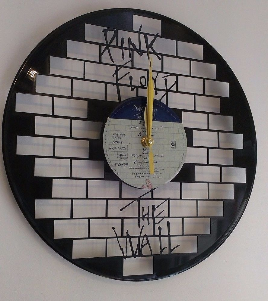 Pink Floyd Wall Art Vinyl Record Clock – Home Decor | Hodiny In Most Up To Date Pink Floyd The Wall Art (View 18 of 20)