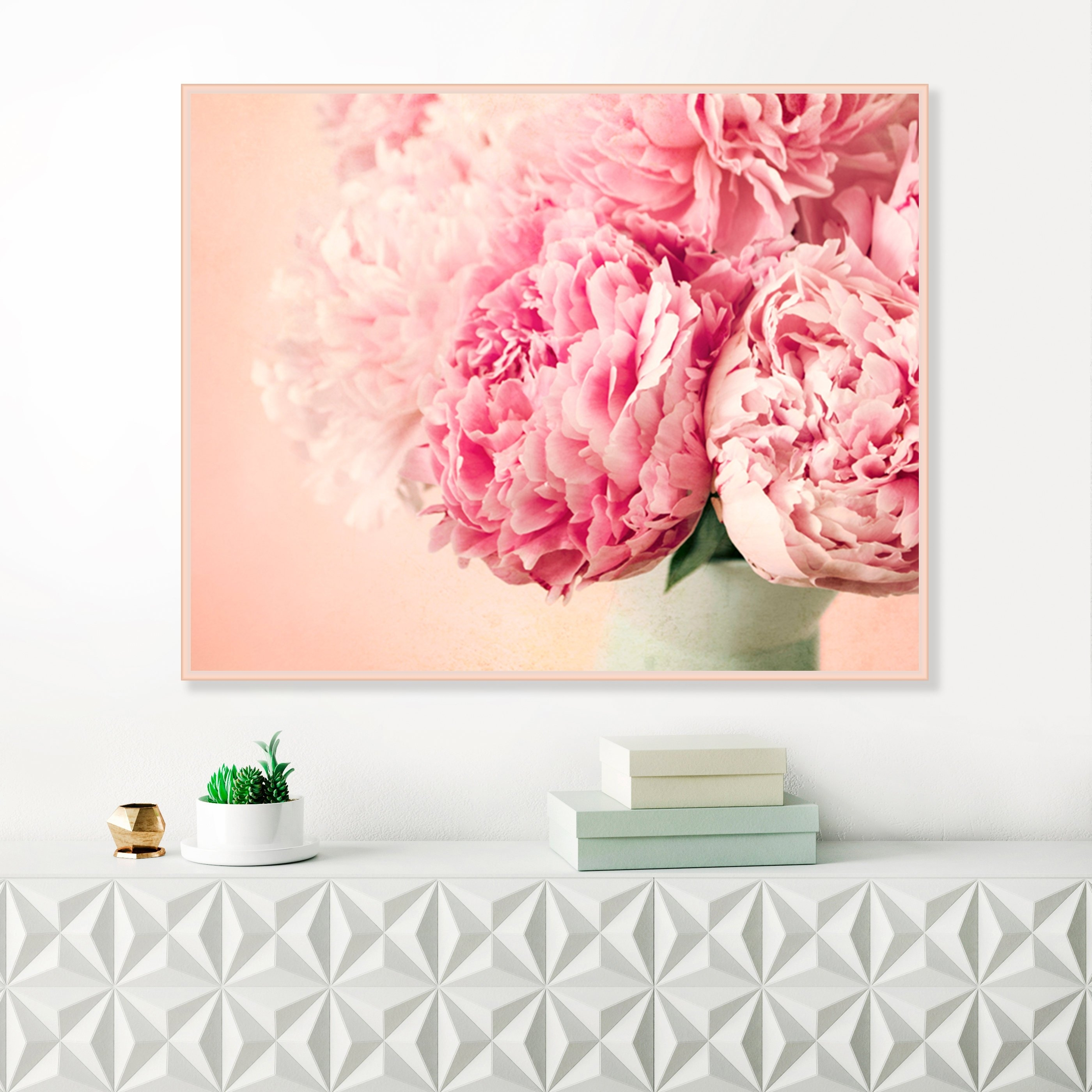 Pink Peonies, Flower Prints, Blush Pink Wall Art, Peonies Still Life Intended For Most Recent Pink Wall Art (View 18 of 20)