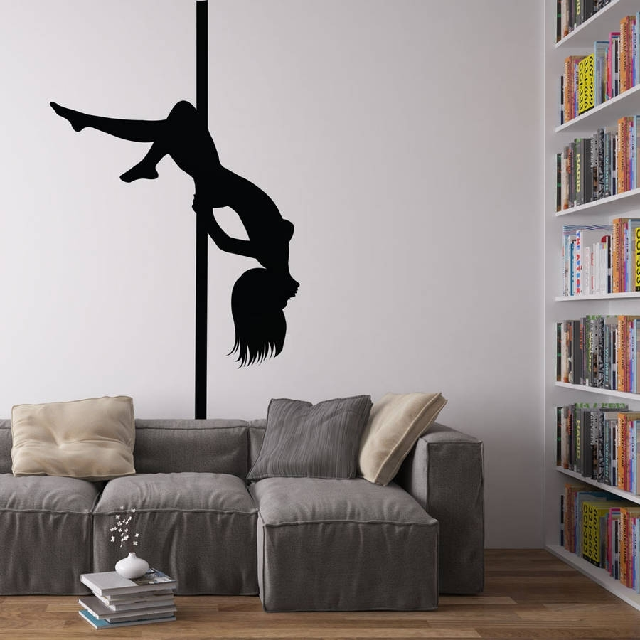 Pole Dancer Vinyl Wall Art Decalvinyl Revolution Within Current Vinyl Wall Art (View 9 of 15)