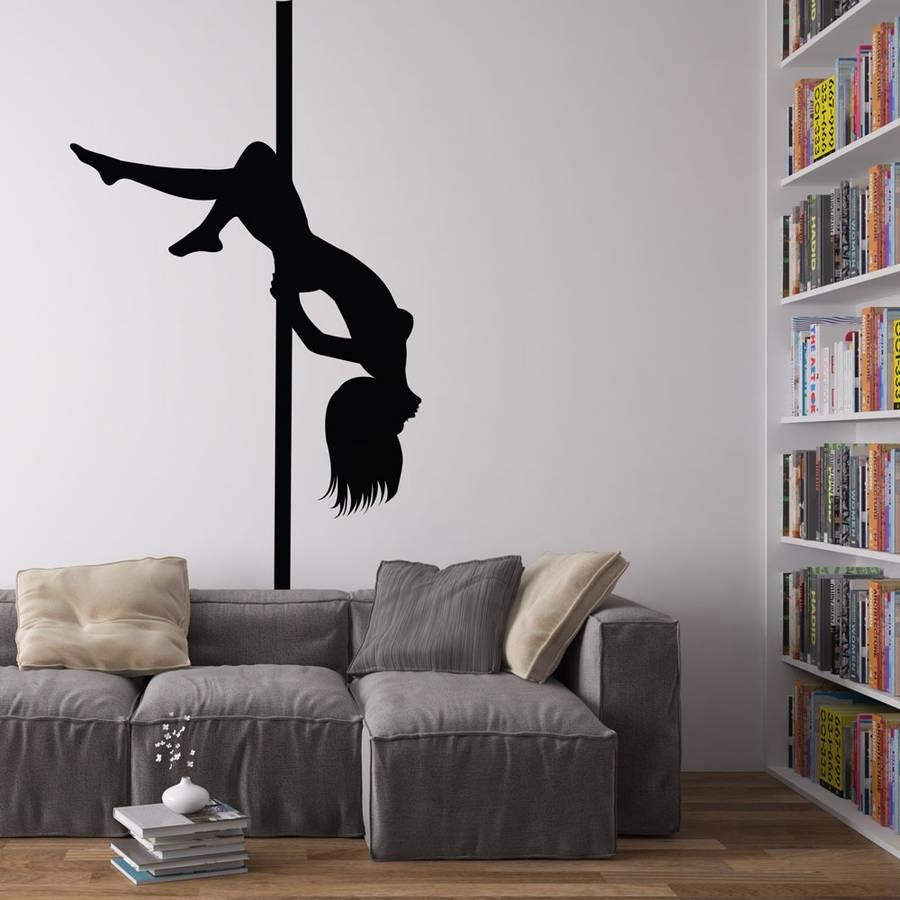 Pole Dancer Vinyl Wall Art Decalvinyl Revolution Within Current Vinyl Wall Art (Gallery 1 of 15)