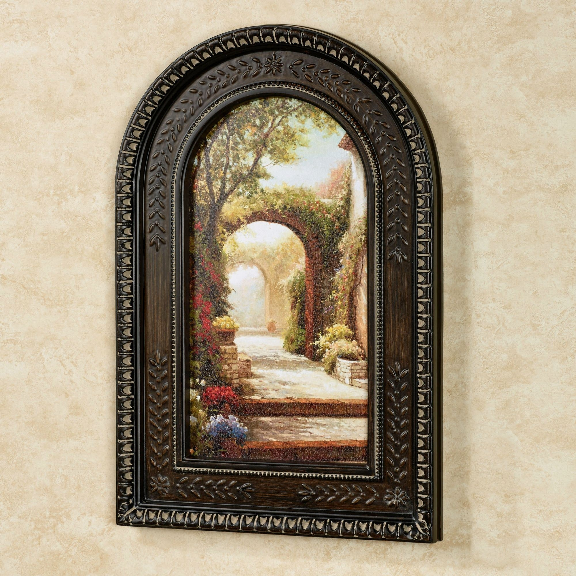 Pomeriggio Arched Framed Wall Art with Most Current Tuscan Wall Art