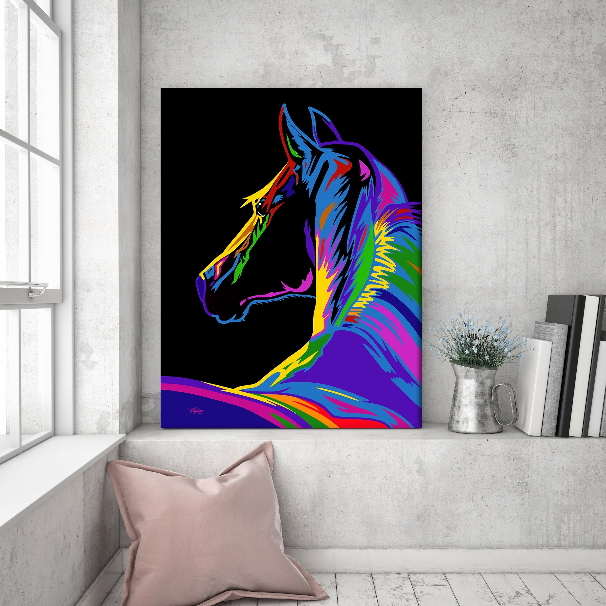 Pop Art Horse Canvas | Fortune & Hopkins | Homeware And Ceramics Intended For Most Current Horse Wall Art (View 9 of 15)