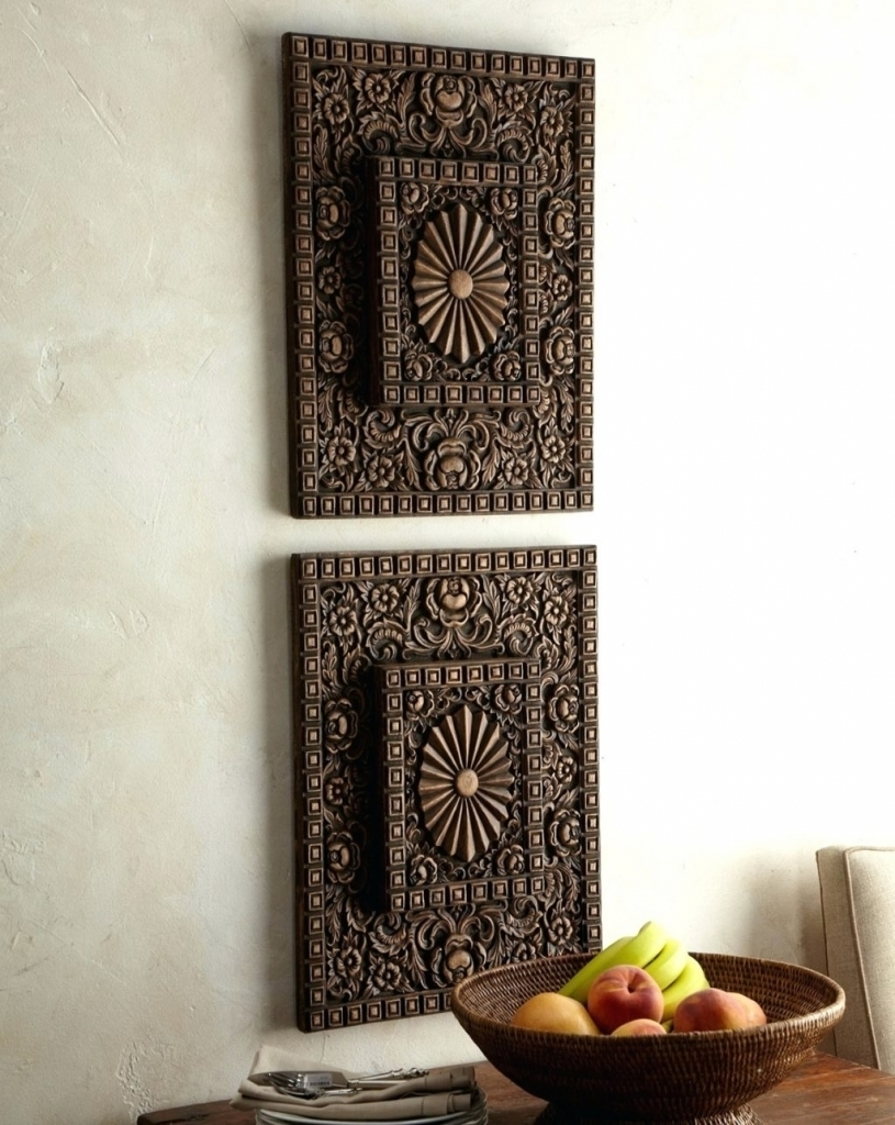 Popular Carved Wood Wall Art : Andrews Living Arts – Carved Wood With Most Current Carved Wood Wall Art (Gallery 14 of 15)