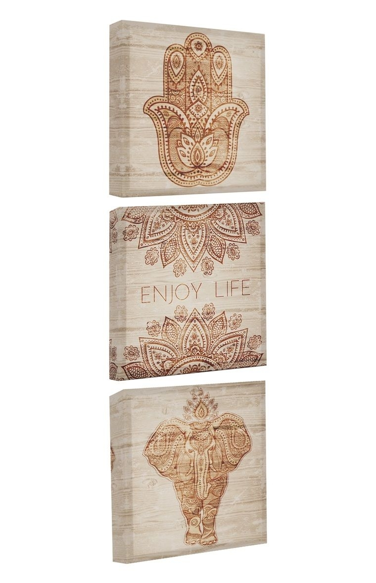 Primark – 3 Pack Henna Wall Art Canvas | New Home Must Haves | Pinterest Throughout Current Henna Wall Art (View 11 of 20)