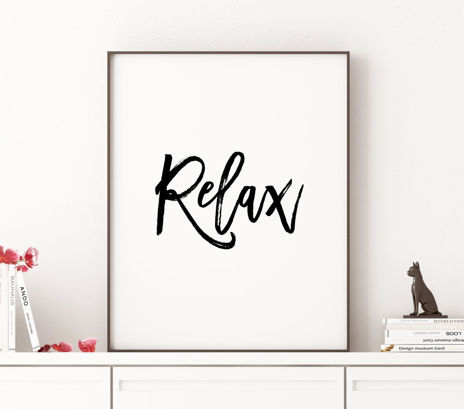Printable Art Relax Office Wall Art Typographythecasanova In Latest Relax Wall Art (View 7 of 20)