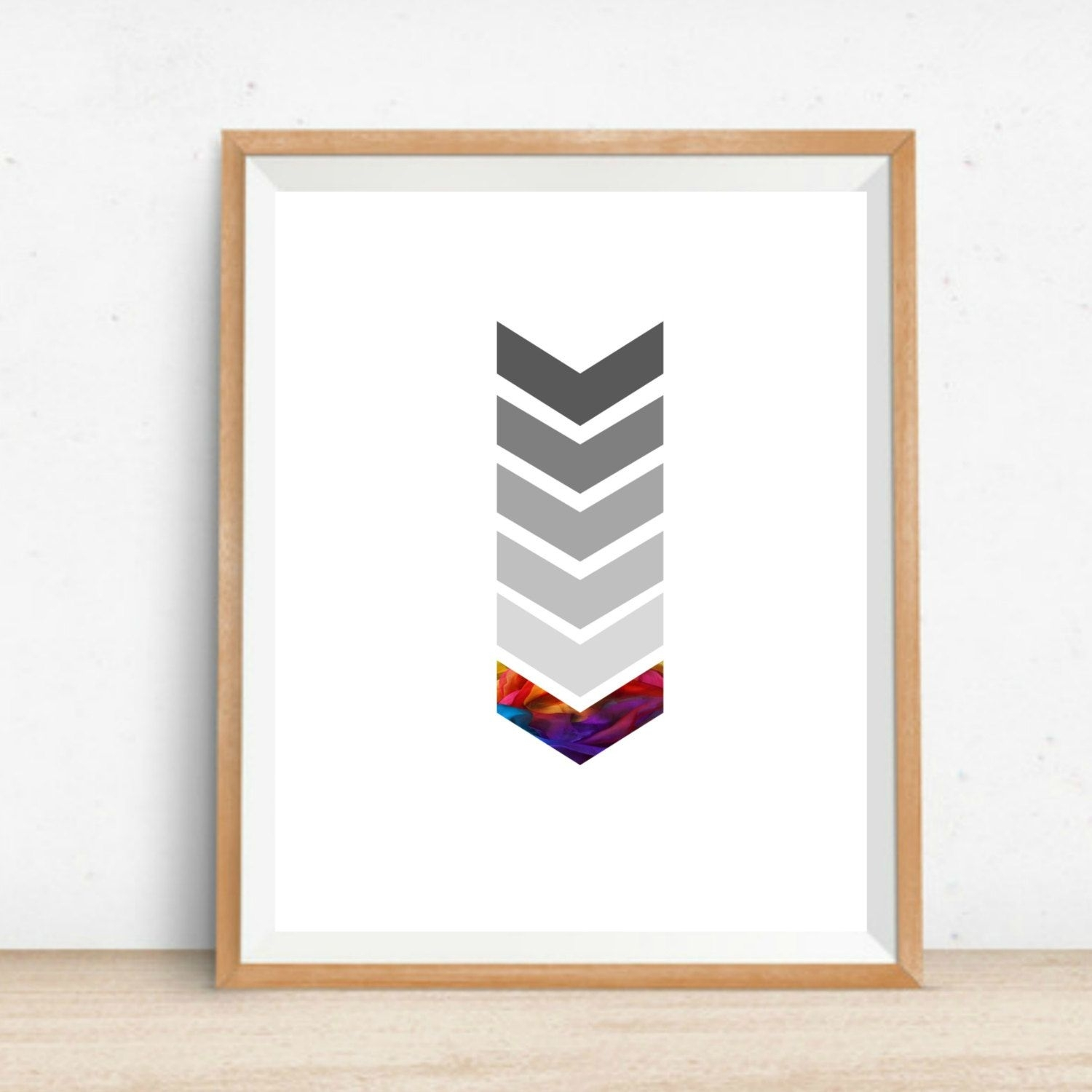 Printable Chevron Wall Art Home Decor Print Instant Download Digital with regard to Best and Newest Chevron Wall Art