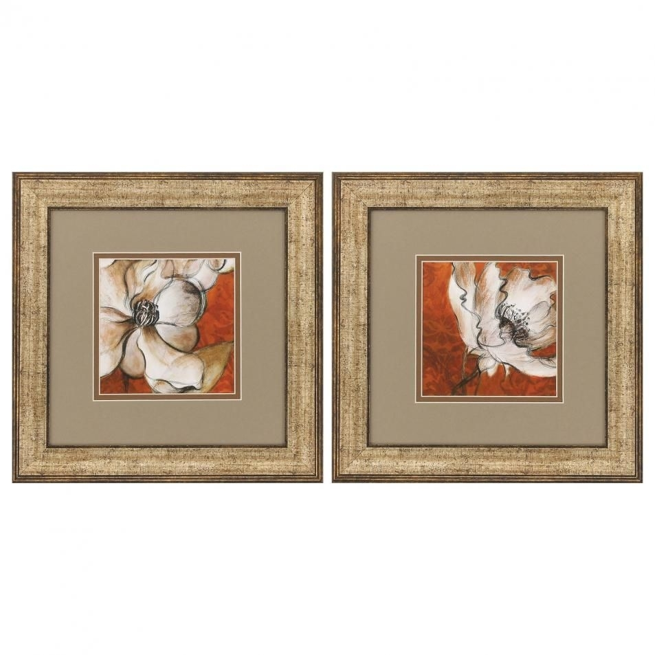 "Propac Flower Wall Art Set Of 2 | ""furniture Collection"" 