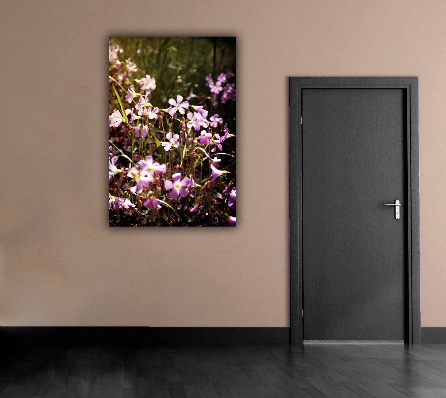 Purple Flower Photograph, Flower Field Photography, Vertical Wall With Regard To Most Recent Vertical Wall Art (Gallery 12 of 20)