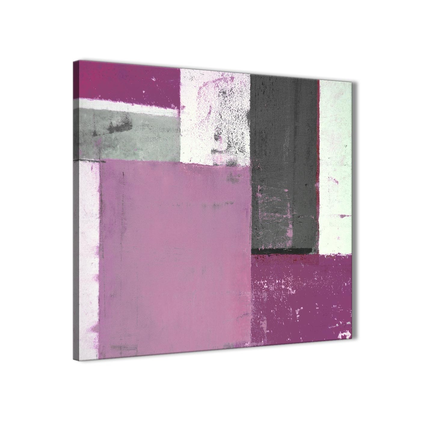Purple Grey Abstract Painting Canvas Wall Art Picture – Modern 79cm In Most Up To Date Purple And Grey Wall Art (Gallery 8 of 20)