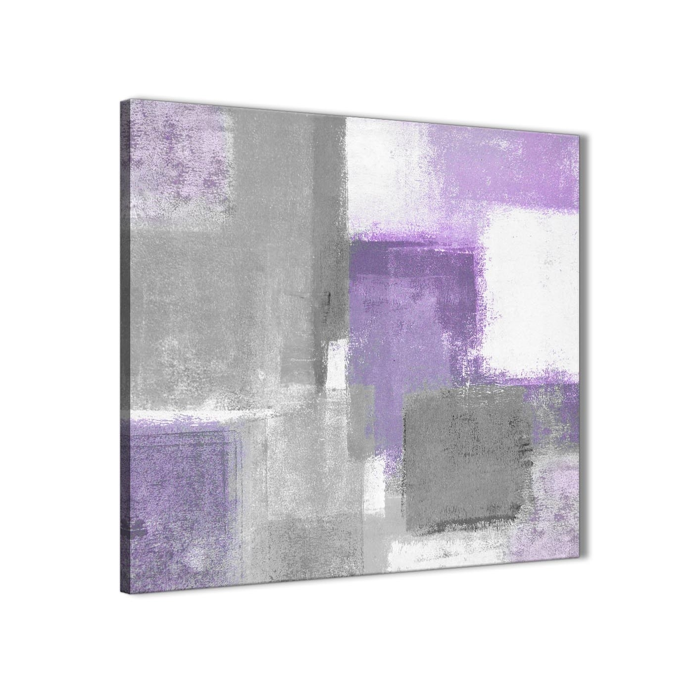 Purple Grey Painting Bathroom Canvas Wall Art Accessories – Abstract Pertaining To Best And Newest Purple And Grey Wall Art (Gallery 1 of 20)