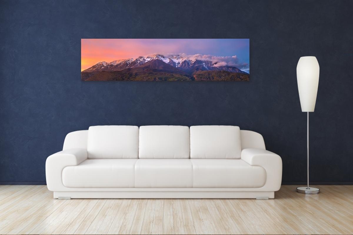 Purple Timpanogos Sunset – Rogue Aurora Photography Regarding Latest Panoramic Wall Art (View 1 of 15)