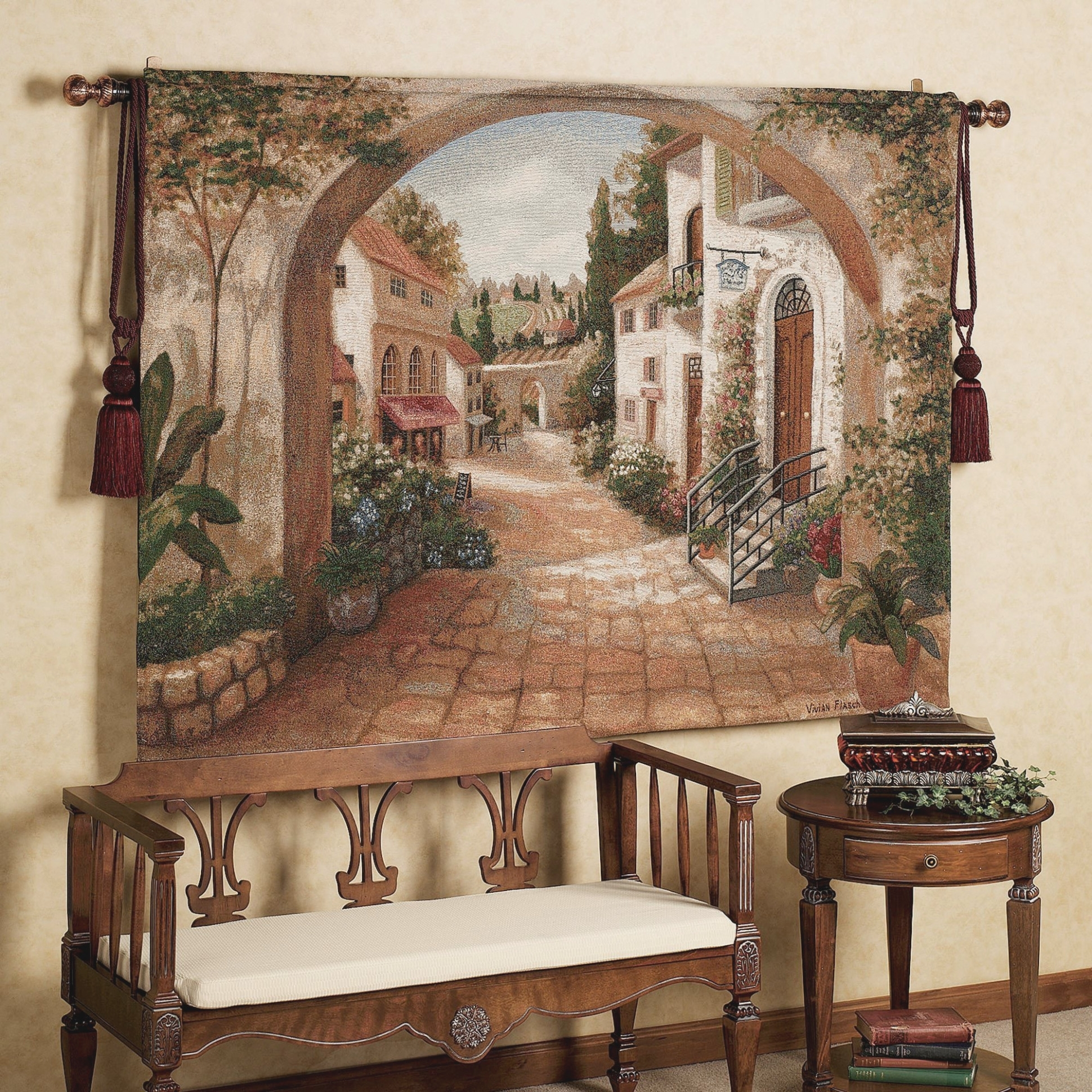 Quaint Town Wall Tapestry | Pinterest | Tapestry, Iron Wall Art And For Most Current Tuscan Wall Art (View 4 of 20)