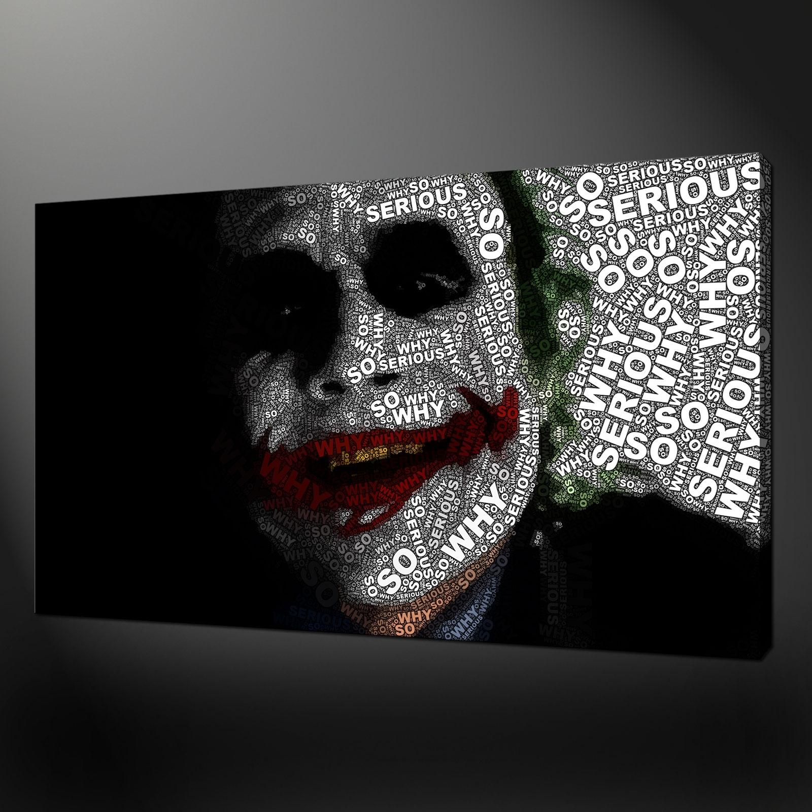 Quality Canvas Print Art Inside 2017 Joker Wall Art (View 4 of 20)
