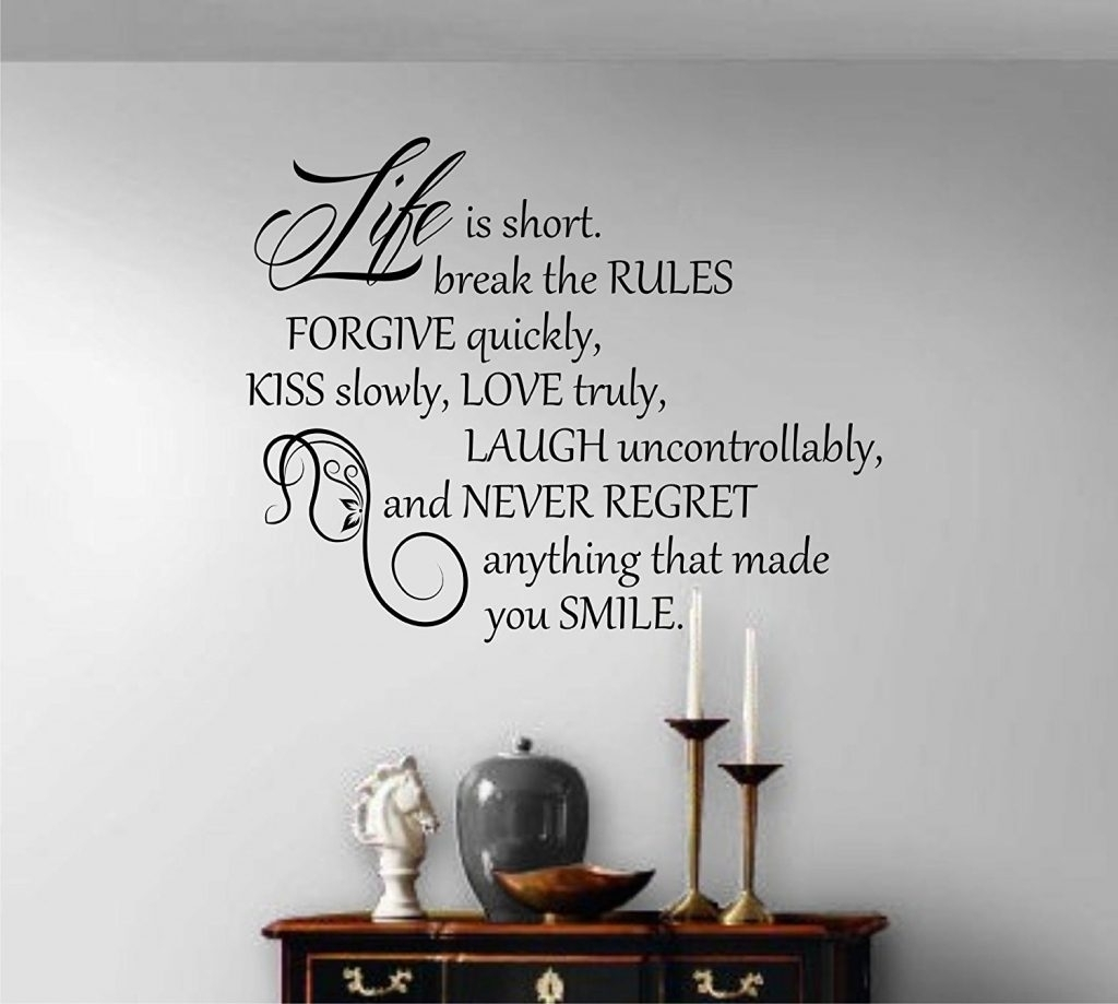 Quotes For Wall Decoration – Blogtipsworld Pertaining To Most Current Quote Wall Art (View 15 of 20)