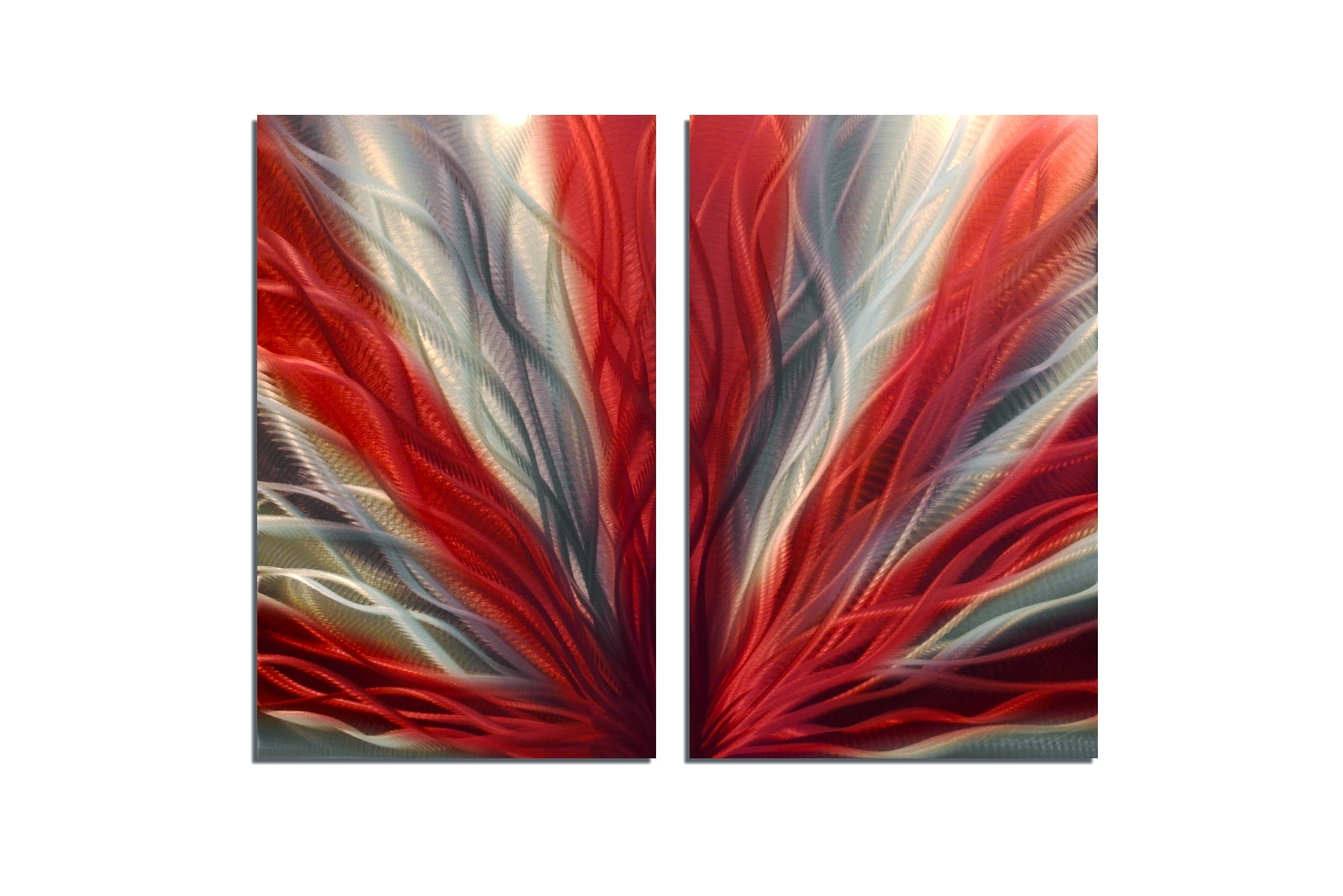 Radiance Red 31 – Metal Wall Art Abstract Sculpture Modern Decor For 2017 Red Wall Art (View 14 of 15)