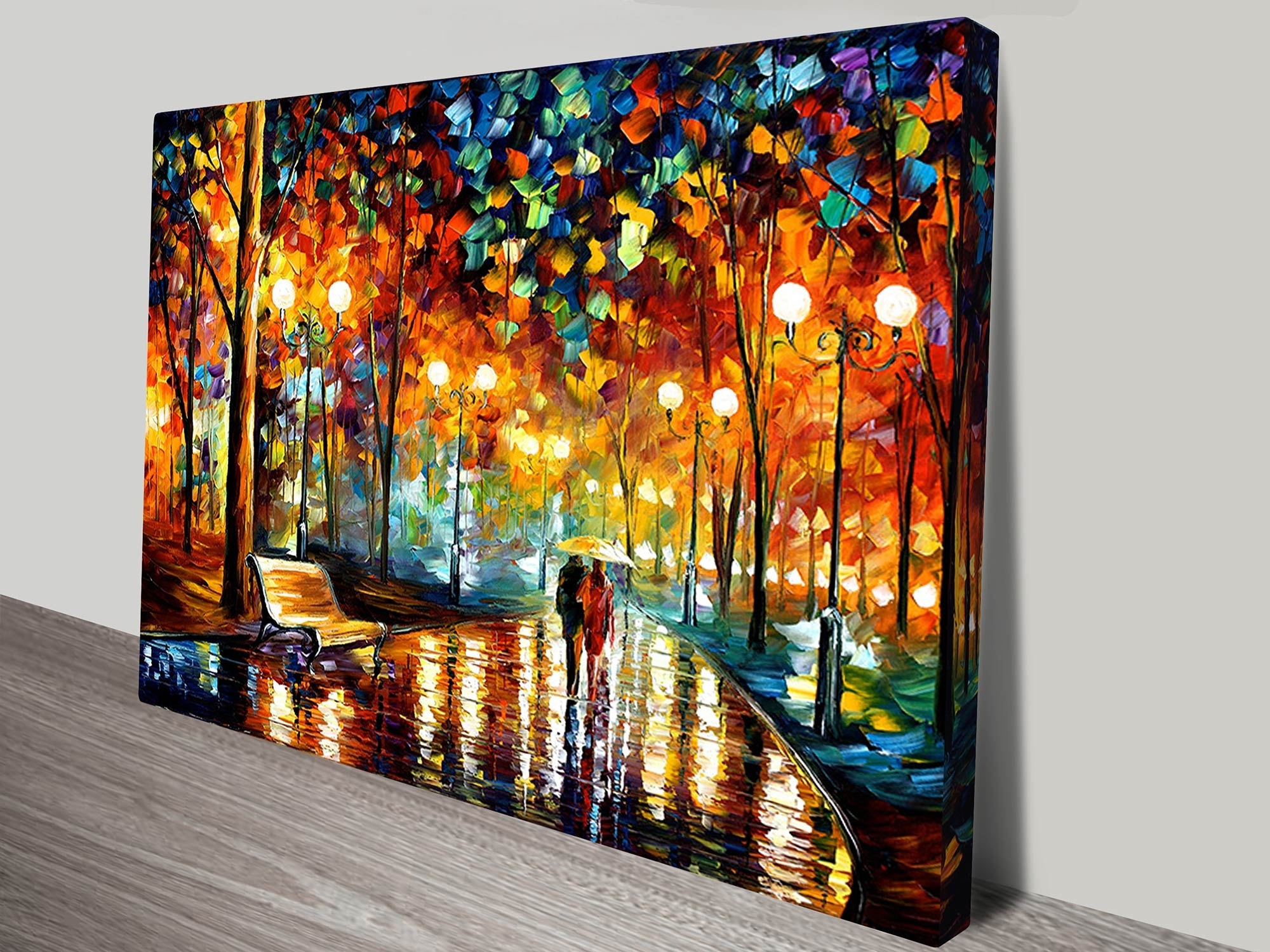 Rain Rustle Leonid Afremov Canvas Art Print Regarding 2018 Wall Canvas Art (View 13 of 15)
