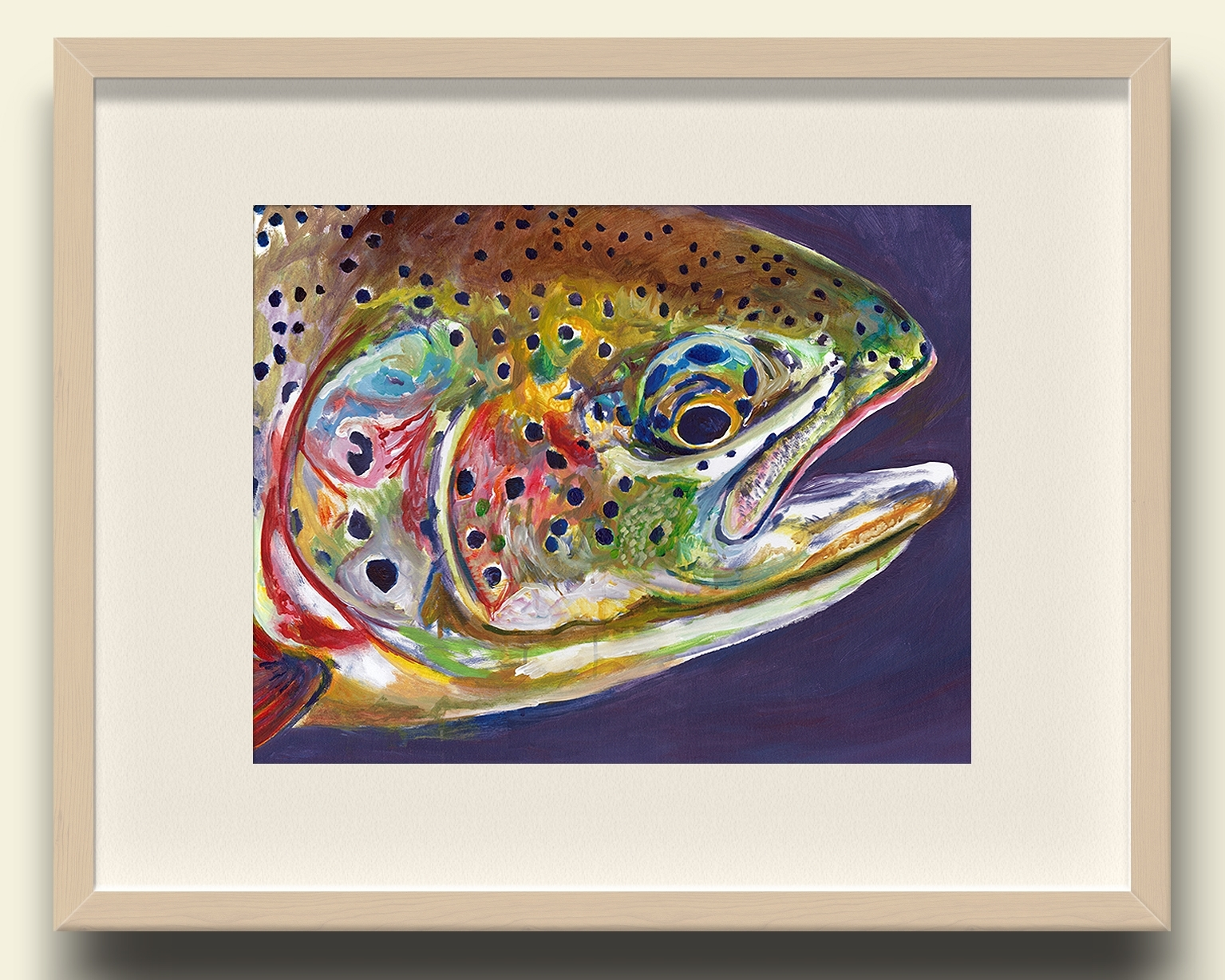 Rainbow Trout Close Up Wall Art Print – Purple – Jack Tarpon Art For Most Popular Fish Painting Wall Art (Gallery 19 of 20)