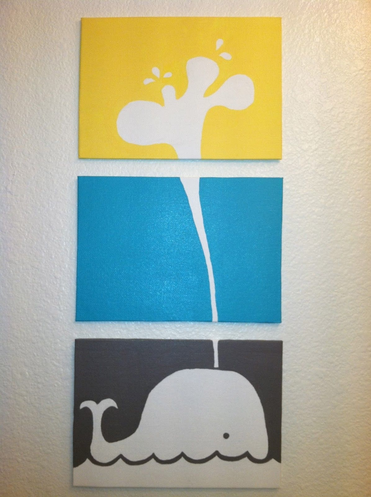 Rebecca's Round Up: Pinned & Tried: Triple Canvas Whale Art {Low In 2017 Whale Canvas Wall Art (View 17 of 20)