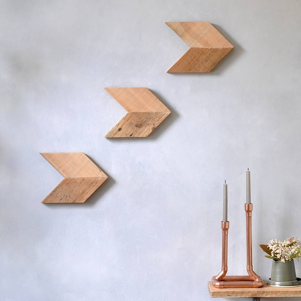 Reclaimed Wood Arrow Wall Art Setmöa Design | Notonthehighstreet For Recent Arrow Wall Art (View 9 of 20)