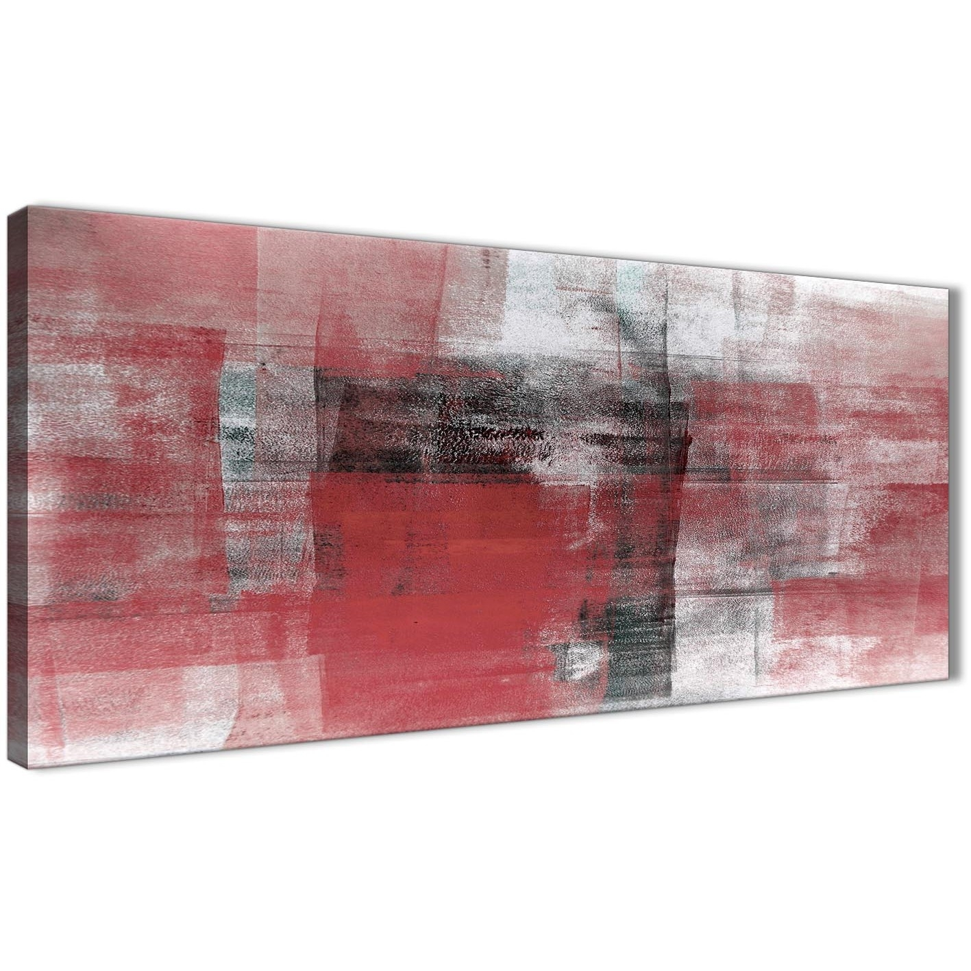 Red Black White Painting Living Room Canvas Wall Art Accessories With Regard To 2018 Red And Black Canvas Wall Art (View 19 of 20)
