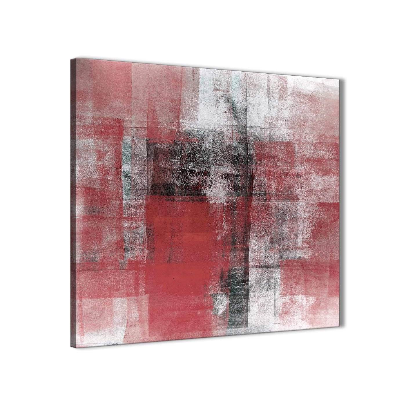 Red Black White Painting Stairway Canvas Pictures Decorations With Regard To Most Popular Kitchen Canvas Wall Art Decors (View 20 of 20)