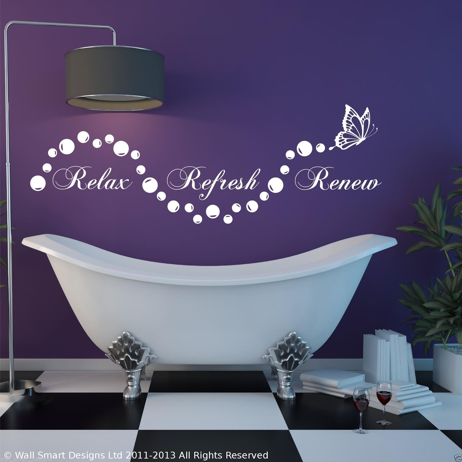 Relax Bathroom Bubbles En Suite Wall Art Sticker Quote Decal Stencil Inside 2018 Relax Wall Art (View 3 of 20)