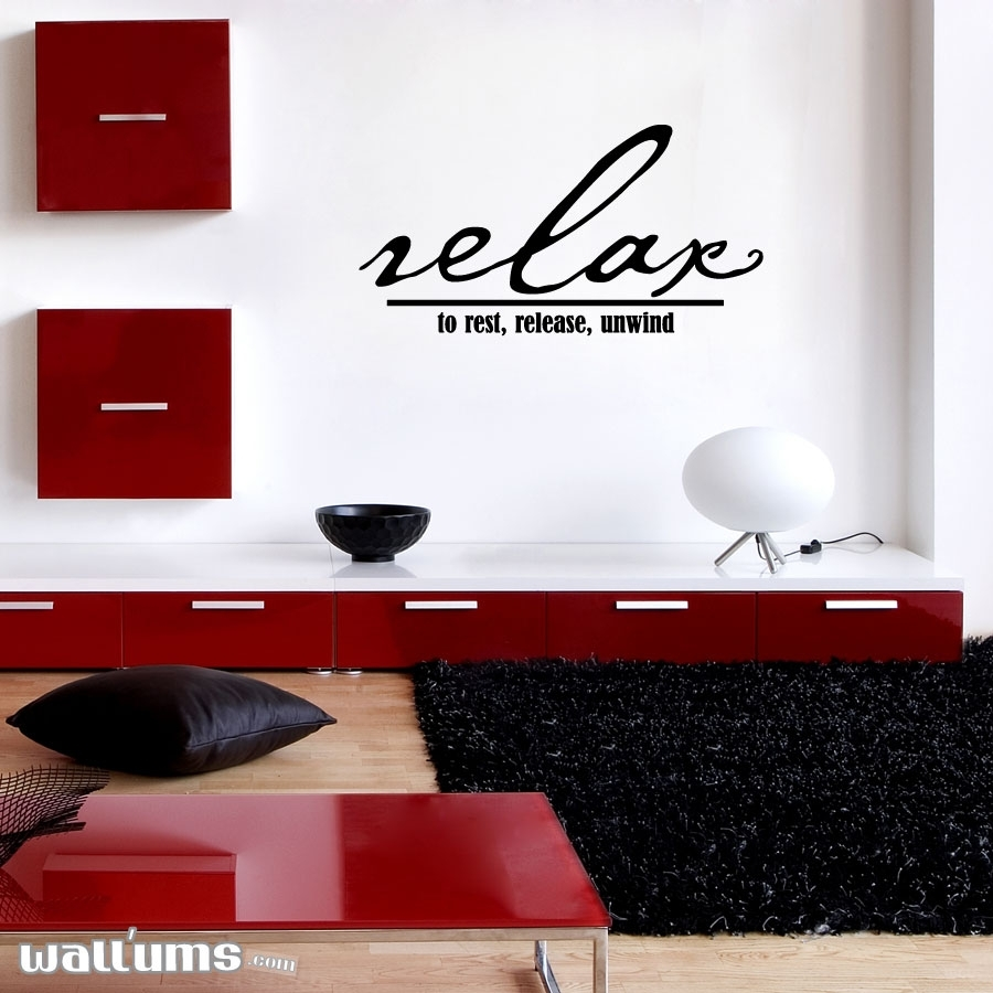 Relax To Rest, Release, Unwind Wall Art Decals In Recent Relax Wall Art (View 12 of 20)