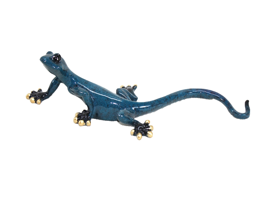 Resin Wall Art – Small Blue Gecko Pertaining To Best And Newest Gecko Canvas Wall Art (View 13 of 20)