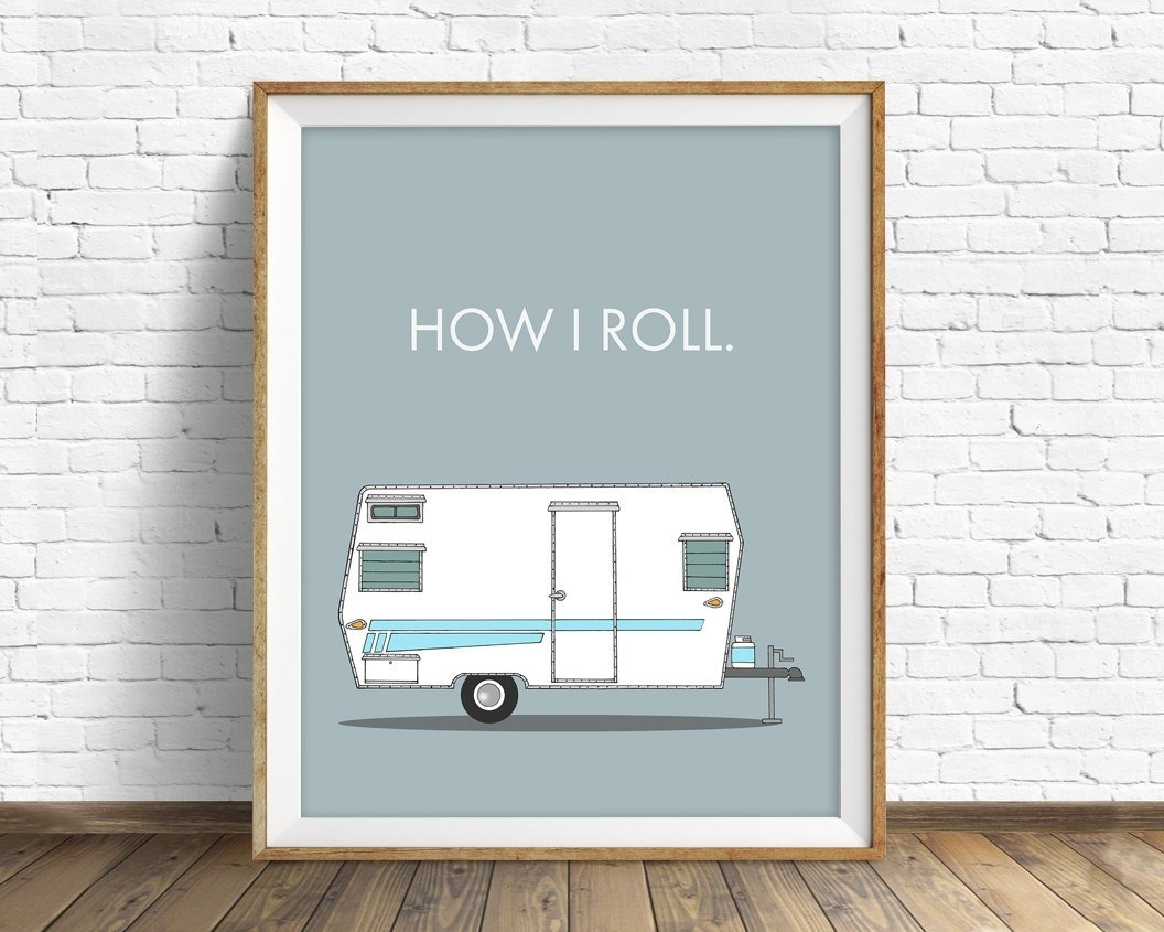 Retro Camper Art Print, Mid Century Modern Wall Art, Large Art In 2017 Mid Century Wall Art (View 12 of 20)