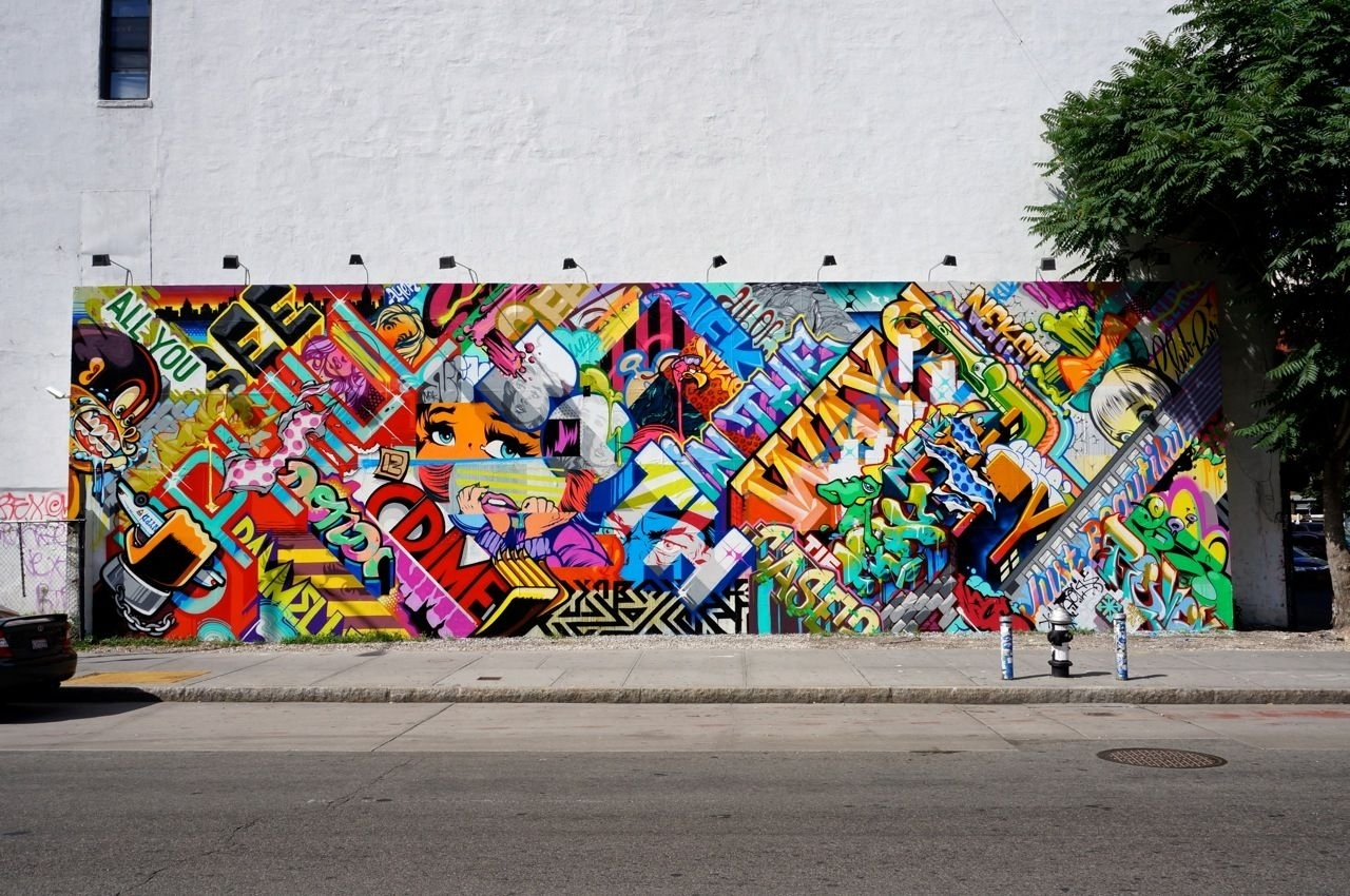 Revok Pose Bowery Houston Wall Mural Am 01 | Street Art | Pinterest Throughout Newest Houston Wall Art (View 16 of 20)